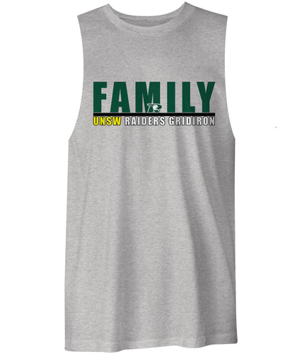 UNSW Raiders Family Logo Muscle Shirt