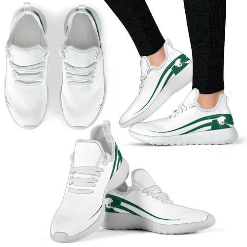 UNSW Raiders White Mesh Knit Sneakers