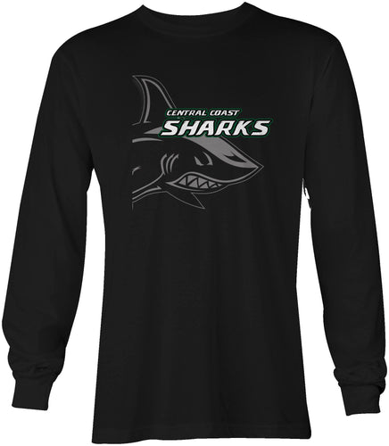 Central Coast Sharks Shark Bite Long Sleeved T-Shirt