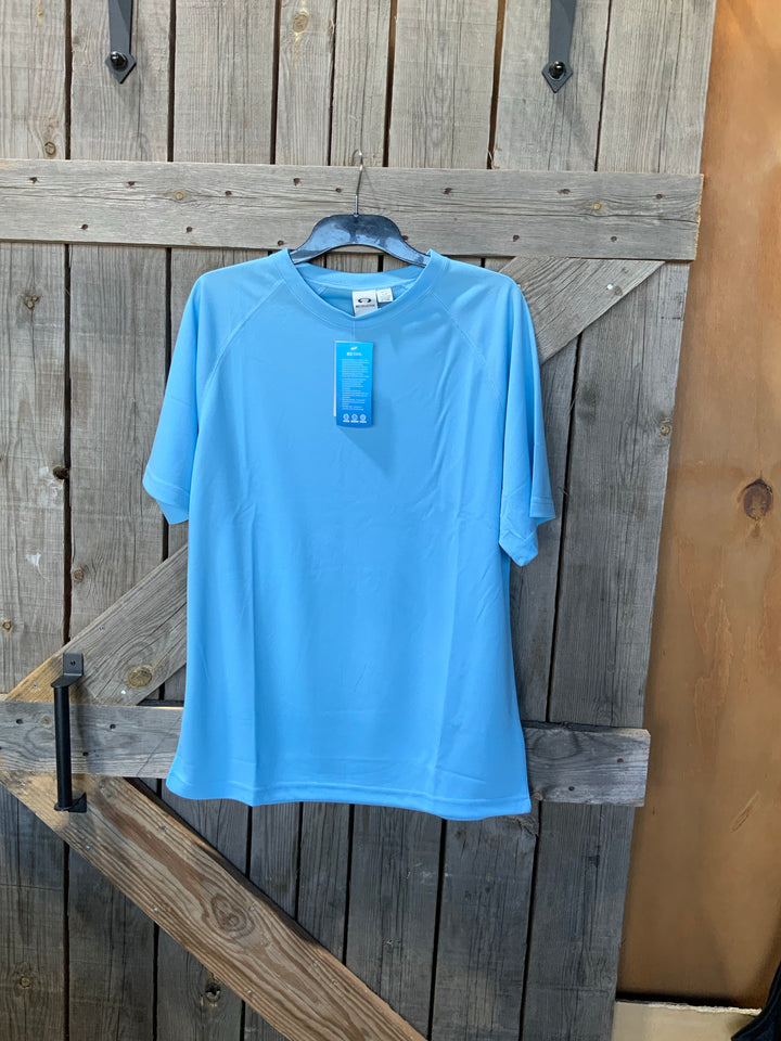 Biz cool breathable performance tee- spring blue