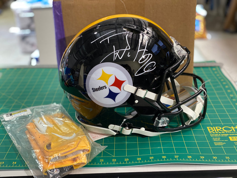 TJ Watt Signed Full Size Authentic Riddell Helmet