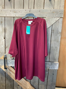 Biz cool breathable performance tee maroon 5XL