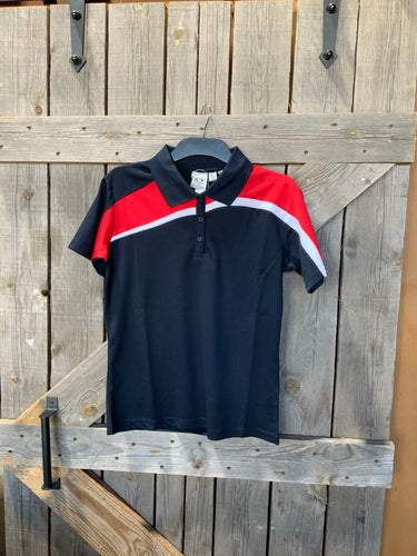 Biz collection ladies navy and red polo size 8