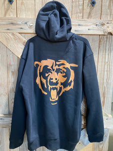 Double sided Bears Zipped Hoodie