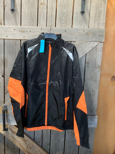 Grace collection jacket black and orange