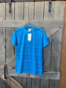 Biz collection ladies blue stripped polo
