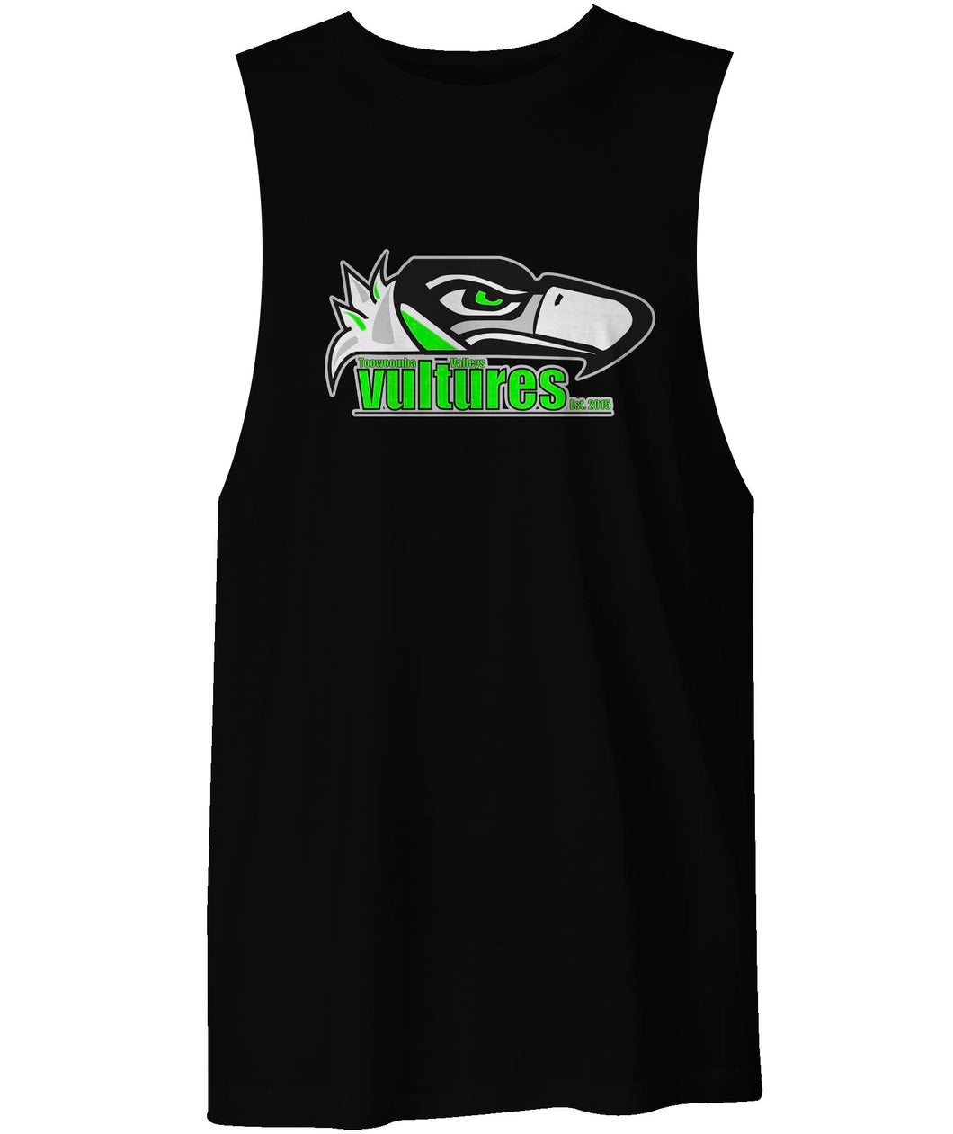 Toowoomba Valleys Vultures Official Logo Muscle T
