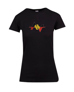 Aarson Apparel Aboriginal  Logo Ladies Premium T-Shirt