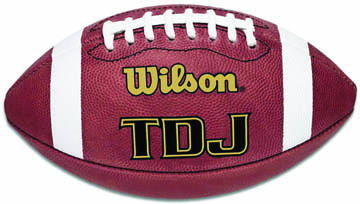 Wilson TDJ Leather Football - Junior