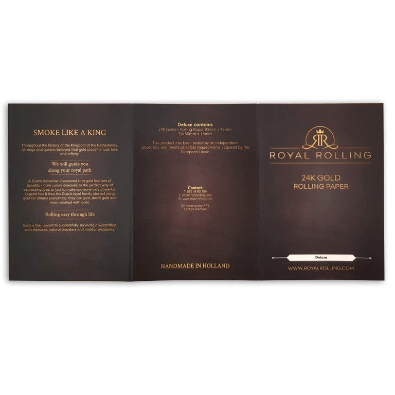 Royal Rolling 24K Gold Papers | Double Deluxe 24K Gold