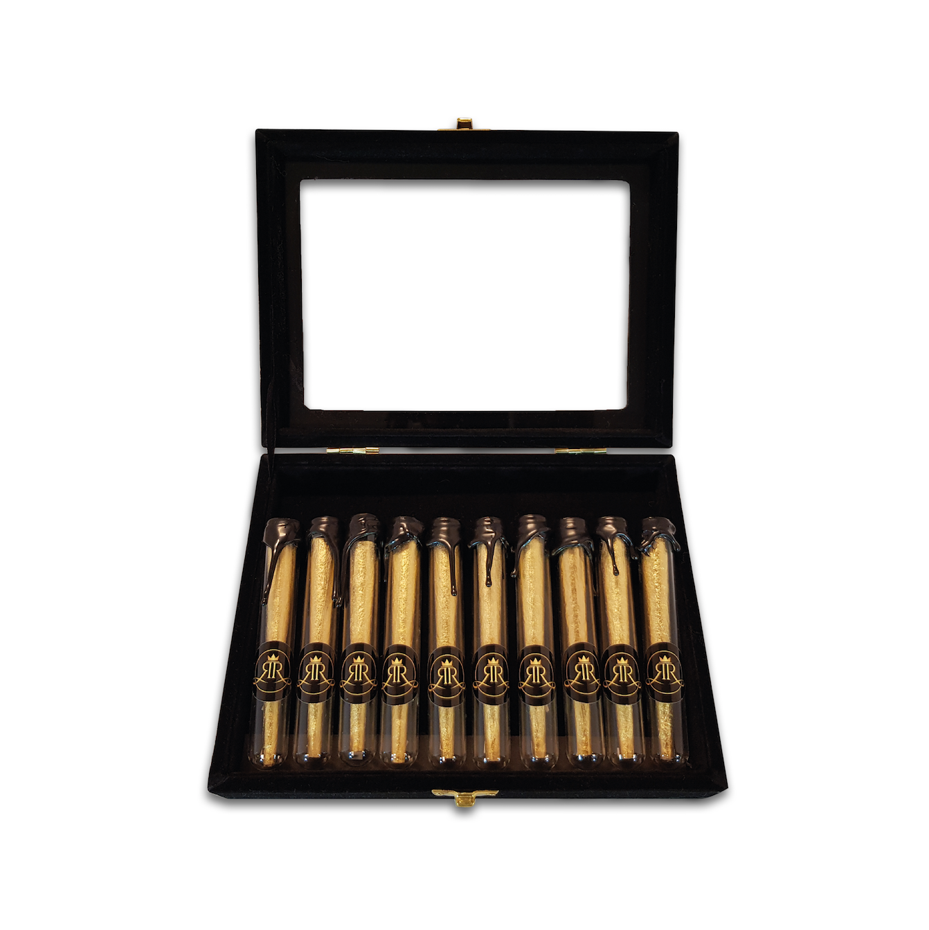 Gouden Vloei - Gouden Cones - 10 stuks - Smoking - Vloei - Rolling paper - Rolling papers - Royal Rolling - Smoking - Smoke - Joint - Joints - Headshop - Amsterdam - Alkmaar - coffeeshop - 24K Gold - King - Queen