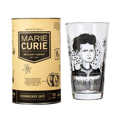 Marie Curie Pint Glass | Field Museum Store