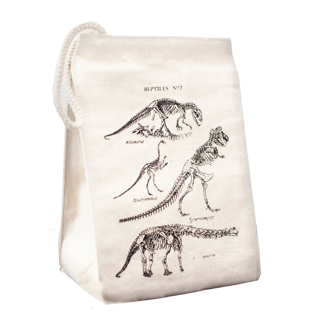 Dino Bones Canvas Lunch Bag | Field Museum Store