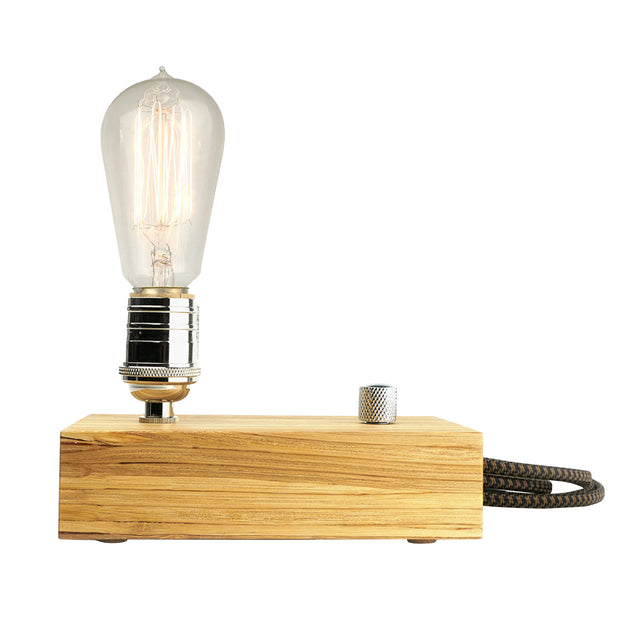 Edison Single Light with Bamboo Base | Field Museum Store