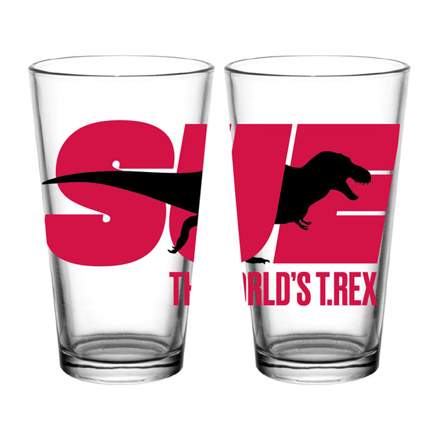 SUE the T. rex Pint Glass | Field Museum Store