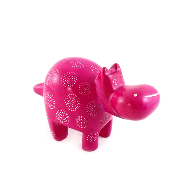 Pink Happiness Hippo Soapstone | Field Museum Store