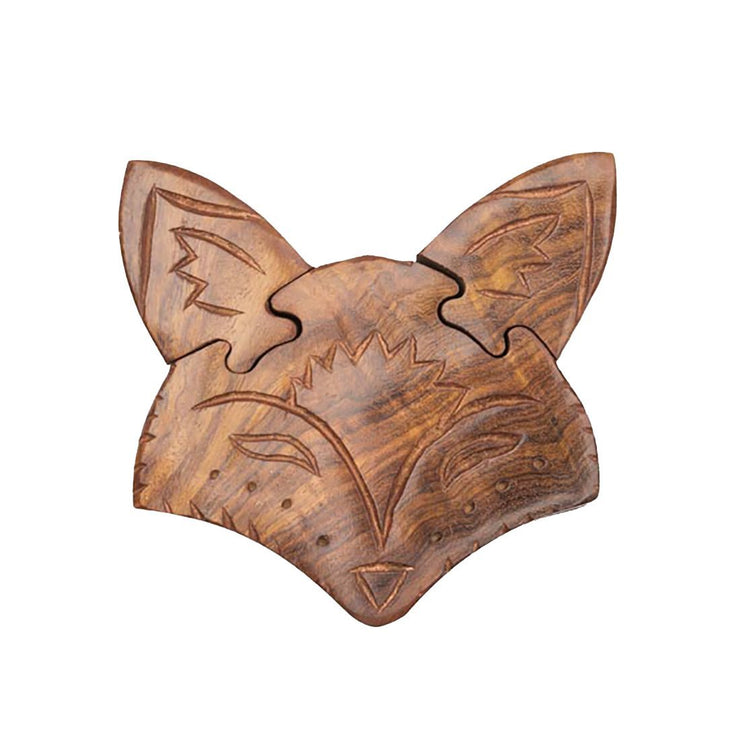 Fox Wooden Puzzle Box | Field Museum Store