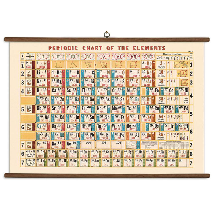 Periodic Chart Vintage School Chart | Field Museum Store