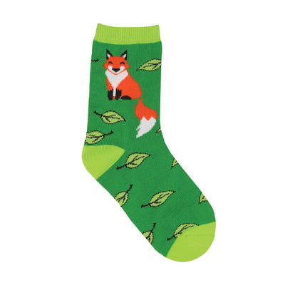 Fox & Leaves Youth Socks | Field Museum Store