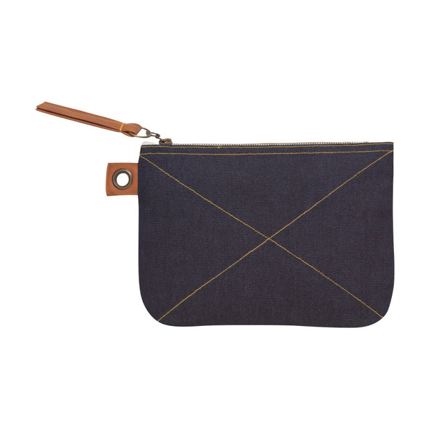 Sawyer Denim Zipper Pouch