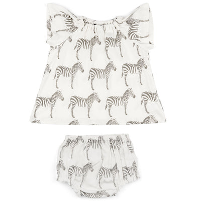Grey Zebra Dress & Bloomer Set | Field Museum Store