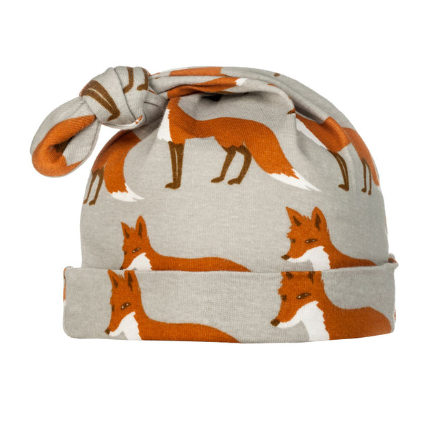Orange Fox Knotted Beanie | Field Museum Store