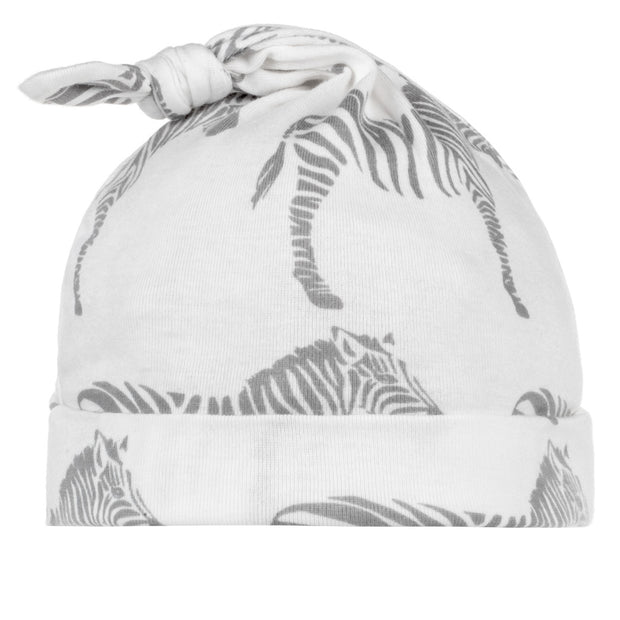 Grey Zebra Knotted Beanie | Field Museum Store