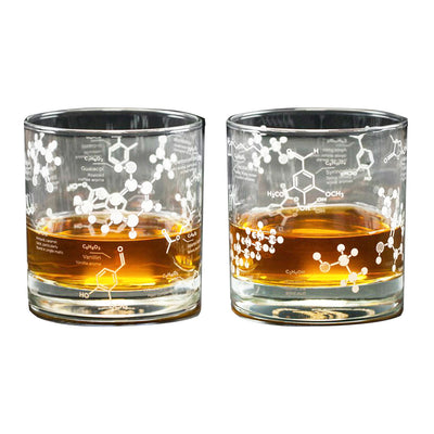 The Science of Whiskey Rocks Glass Set | Field Museum Store