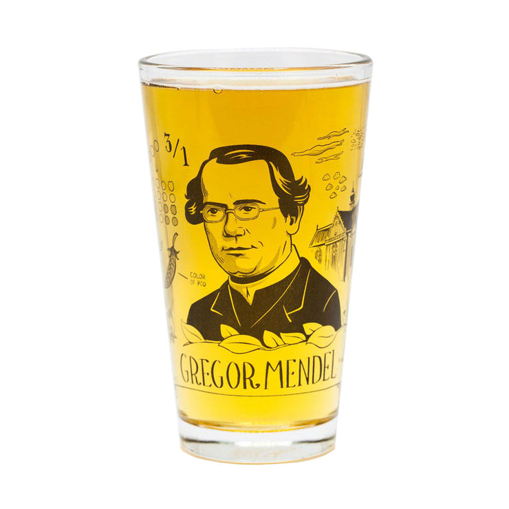 Gregor Mendel Pint Glass | Field Museum Store