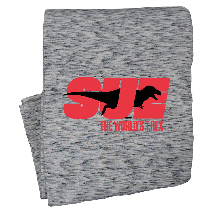 SUE the T. Rex Sweatshirt Blanket - Grey | Field Museum Store