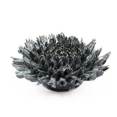 Black Fractal Ceramic Flower | Field Museum Store