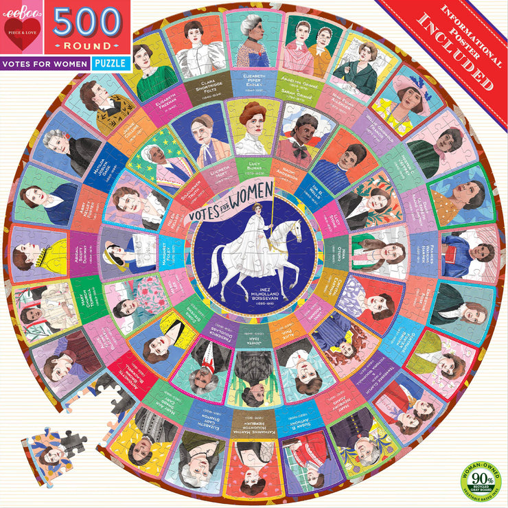 Votes for Women 500 Piece Round Puzzle | Field Museum Store