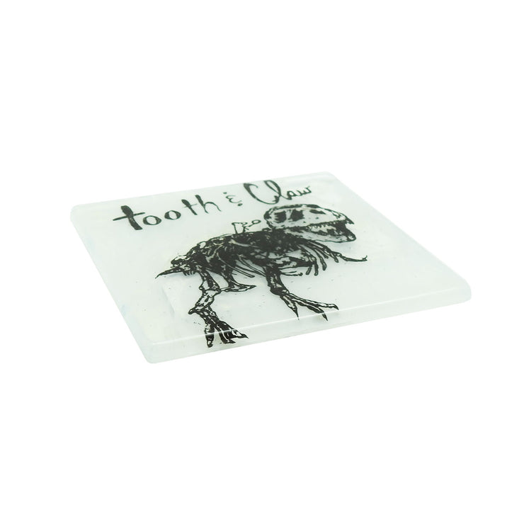 Tooth & Claw Glass Coaster | Field Museum Store