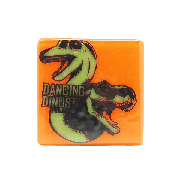 Dancing Dinos Glass Coaster | Field Museum Store