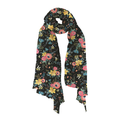 Bumble Bee Floral Lightweight Scarf | Field Museum Store