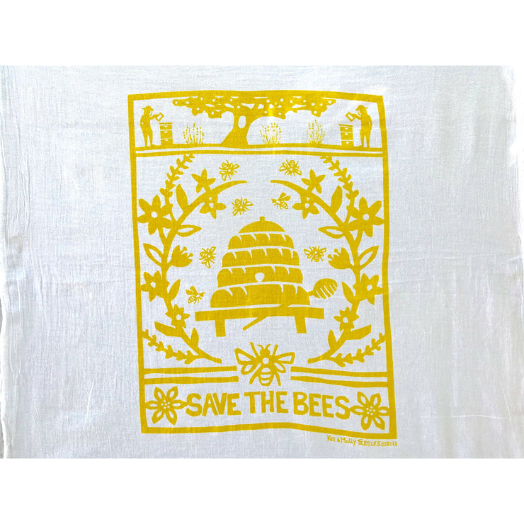 Save the Bees Flour Sack Dish Towel | Field Museum Store