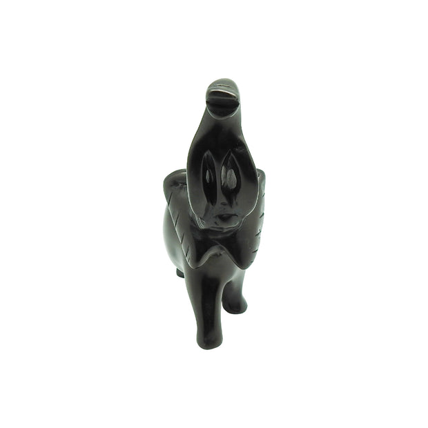 Lucky Black Elephant Soapstone | Field Museum Store