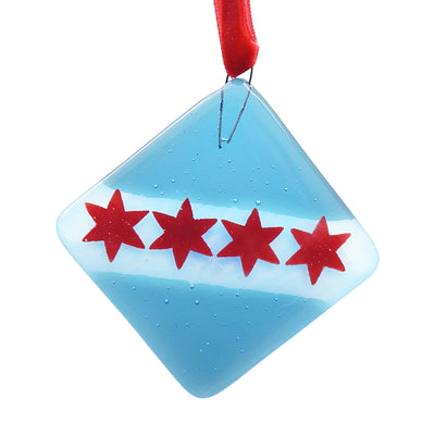 Chicago Flag Glass Ornament | Field Museum Store