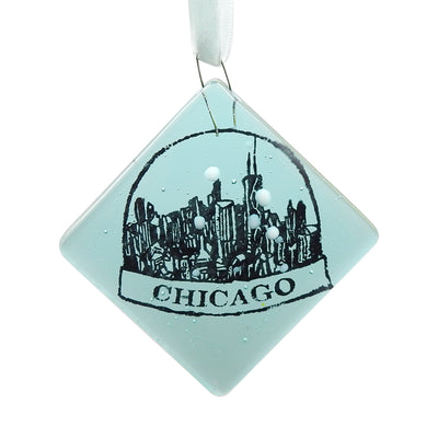 Chicago Snowglobe Glass Ornament | Field Museum Store