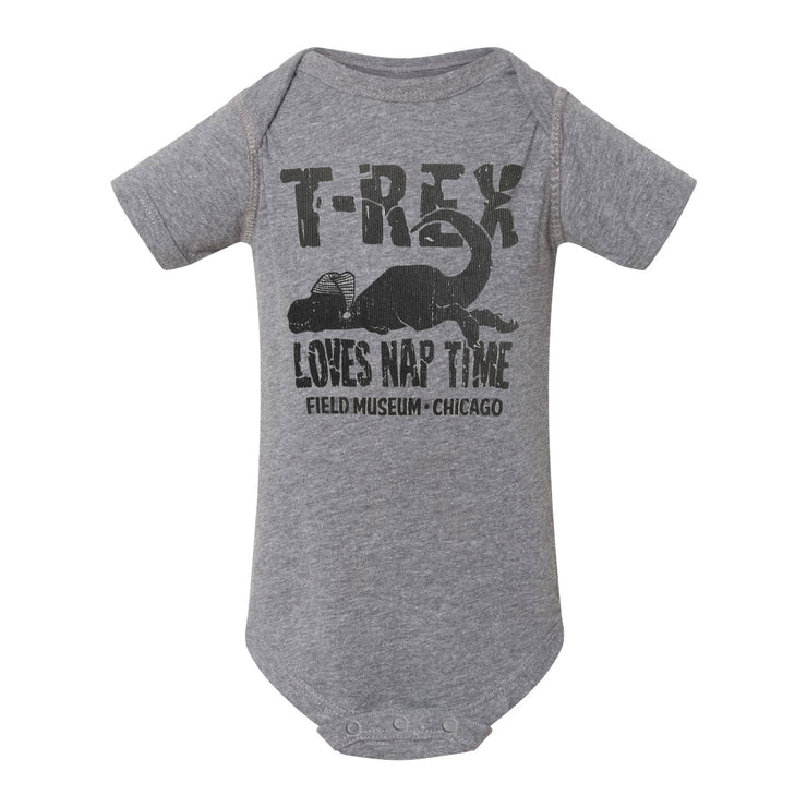T. rex Loves Nap Time Infant Bodysuit | Field Museum Store