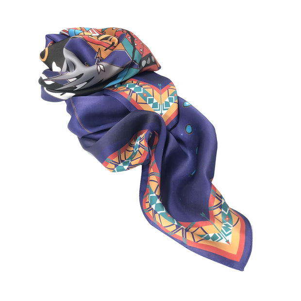 Dreamchaser Silk Scarf by Bethany Yellowtail | Field Museum Store