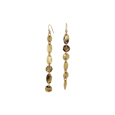 Lingua Nigra Gold Strokes - Mismatched Linear Earrings | Field Museum Store