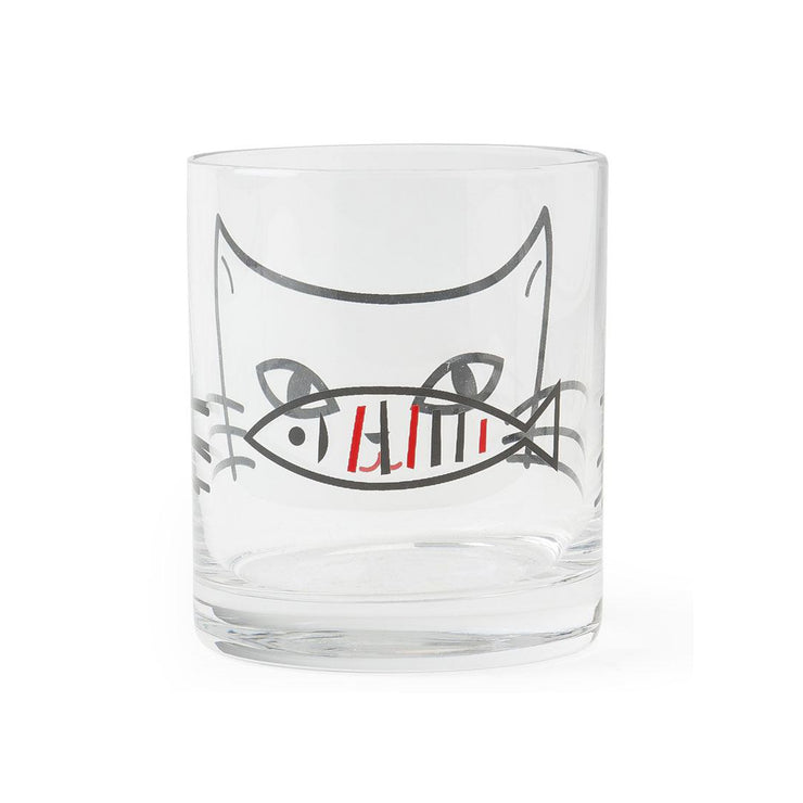 Cat & Fish Glass Cup | Field Museum Store