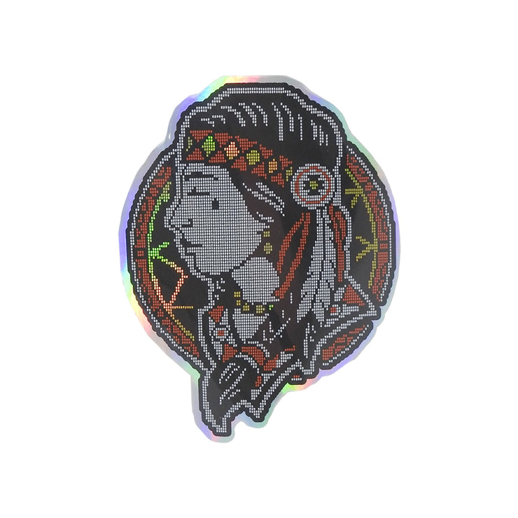 Native Woman Holographic Sticker | Field Museum Store