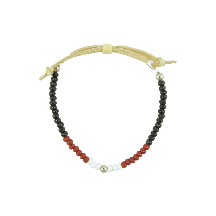 Native Works Black, Red & White Glass Bead Bracelet | Field Museum Store