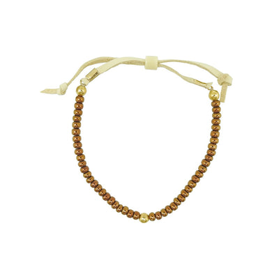 Native Works Bronze Glass Bead Bracelet | Field Museum Store