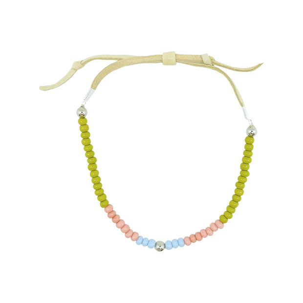 Native Works Green, Pink & Blue Glass Bead Bracelet | Field Museum Store