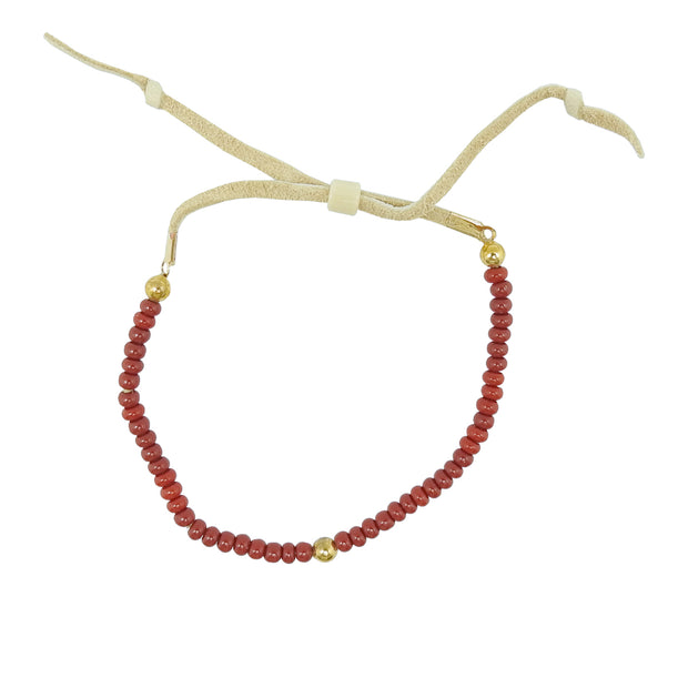 Native Works Red Glass Bead Bracelet | Field Museum Store