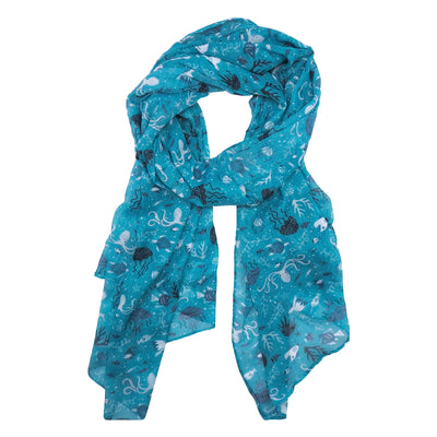 Women in Science Marine Biology Scarf | Field Museum Store