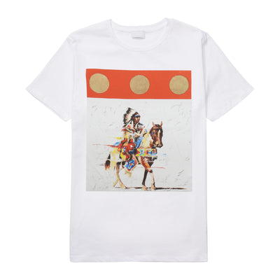 """Red in Motion"" T-Shirt by Del Curfman 